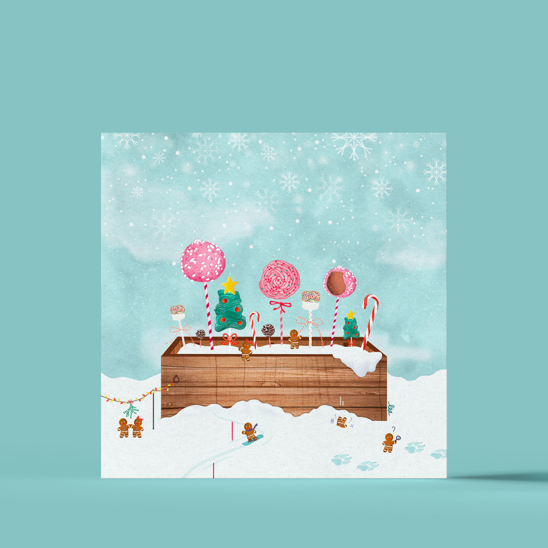 candy flowerpot illustration