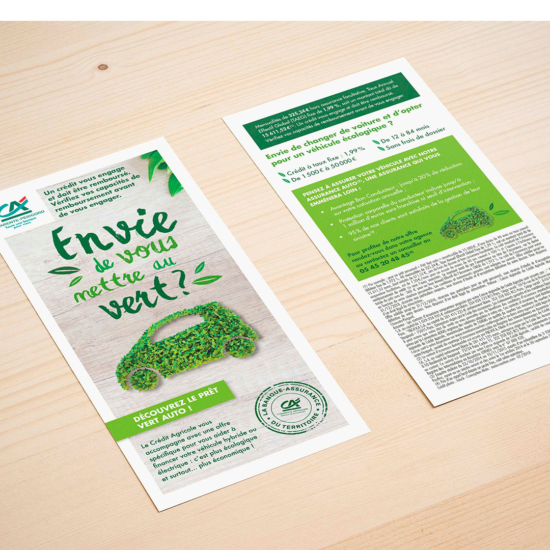Flyer Credit Agricole - Print-Maia